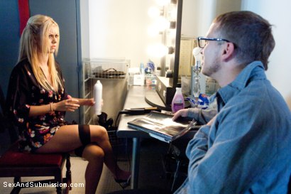 Photo number 3 from The Model: Jessie Rogers gets taken by her biggest fan! shot for Sex And Submission on Kink.com. Featuring Jessie Rogers and Mr. Pete in hardcore BDSM & Fetish porn.