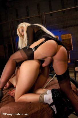 Photo number 6 from Joanna Jet Takes A Slave Girl shot for TS Pussy Hunters on Kink.com. Featuring Joanna Jet and Katie St. Ives in hardcore BDSM & Fetish porn.