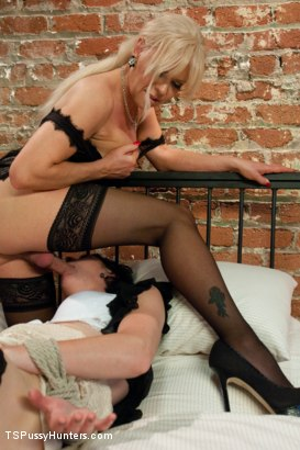 Photo number 6 from Hitting It Big: Transsexual Casting Couch shot for TS Pussy Hunters on Kink.com. Featuring Joanna Jet and Coral Aorta in hardcore BDSM & Fetish porn.