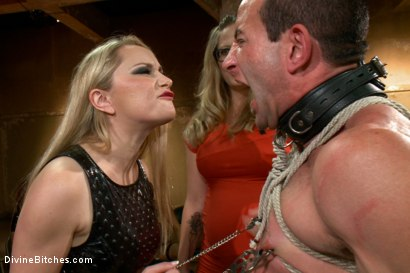 Photo number 7 from LIVE & PUBLIC slave humiliation, degradation, prostate milking with horny sadistic women! shot for Divine Bitches on Kink.com. Featuring Maitresse Madeline Marlowe , Aiden Starr, Christian Wilde, Lorelei Lee, Jason Miller and John Jammen in hardcore BDSM & Fetish porn.