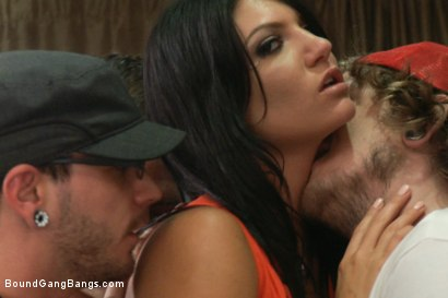 Photo number 1 from The Frat Party: Starring Cassandra Nix in her FIRST GANGBANG! 12 guys  shot for Bound Gang Bangs on Kink.com. Featuring Cassandra Nix, Dane Cross, Mr. Pete, Danny Wylde and Brian Street Team in hardcore BDSM & Fetish porn.