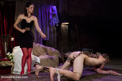 Photo number 2 from Starr Treatment shot for Divine Bitches on Kink.com. Featuring Bobbi Starr and Cole Brooks in hardcore BDSM & Fetish porn.