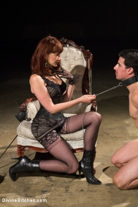 Photo number 15 from Maitresse Madeline returns with a vengeance! shot for Divine Bitches on Kink.com. Featuring Maitresse Madeline Marlowe  and Tyler Alexander in hardcore BDSM & Fetish porn.