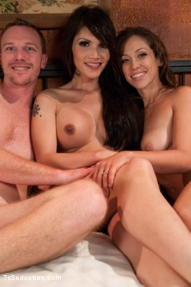 """Photo number 15 from """"Movie Night""""Feature 3Some Starring Eva Lin&A Real Life Married Couple shot for tsseduction on Kink.com. Featuring Eva Lin, Audrey Rose and Henry Jacob in hardcore BDSM & Fetish porn."""