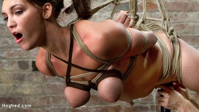 First Time Bound Holly Michaels Gets Crazy Bondage Predicaments