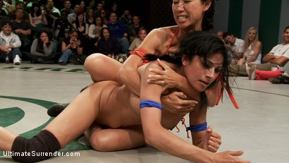 Photo number 11 from June Tag Team Match Up Part 1: Four Fierce and Sexy Wrestlers! Brutal Submission holds! Face Sitting shot for Ultimate Surrender on Kink.com. Featuring Kaylee Hilton, Tia Ling, Cheyenne Jewel, Rain DeGrey, Beretta James and Maestro in hardcore BDSM & Fetish porn.