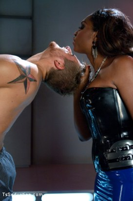 Photo number 4 from Introducing Hung Jayla Marie in a Series Installment of The Wives Club shot for TS Seduction on Kink.com. Featuring Jayla Marie and Logan Vaughn in hardcore BDSM & Fetish porn.