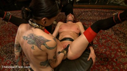 Photo number 11 from Stefanos' Brunch shot for The Upper Floor on Kink.com. Featuring Odile, Dylan Ryan and Krysta Kaos in hardcore BDSM & Fetish porn.