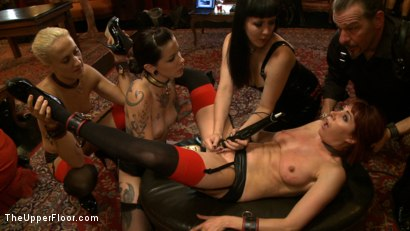 Photo number 12 from Stefanos' Brunch shot for The Upper Floor on Kink.com. Featuring Odile, Dylan Ryan and Krysta Kaos in hardcore BDSM & Fetish porn.