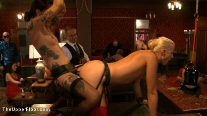 Photo number 7 from Stefanos' Brunch shot for The Upper Floor on Kink.com. Featuring Odile, Dylan Ryan and Krysta Kaos in hardcore BDSM & Fetish porn.