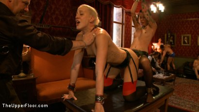 Photo number 10 from Stefanos' Brunch shot for The Upper Floor on Kink.com. Featuring Odile, Dylan Ryan and Krysta Kaos in hardcore BDSM & Fetish porn.