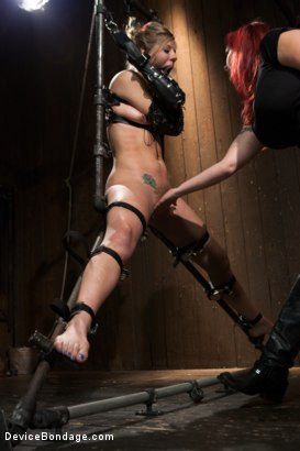 Photo number 8 from Chastity Lynn - Cum Begging Cunt - Live Show Part 4 shot for Device Bondage on Kink.com. Featuring Chastity Lynn in hardcore BDSM & Fetish porn.