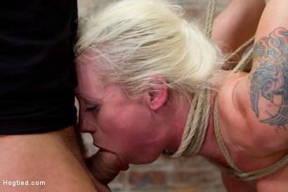 Photo number 3 from Tough Blonde Bombshell & Fan Favorite Lorelei Lee - Complete Edited Live Show shot for Hogtied on Kink.com. Featuring Lorelei Lee and Mark Davis in hardcore BDSM & Fetish porn.