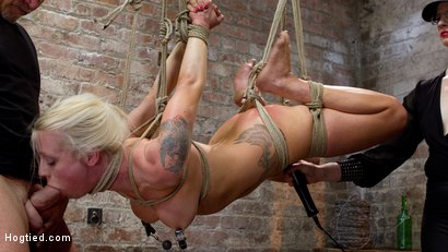 Photo number 4 from Tough Blonde Bombshell & Fan Favorite Lorelei Lee - Complete Edited Live Show shot for Hogtied on Kink.com. Featuring Lorelei Lee and Mark Davis in hardcore BDSM & Fetish porn.