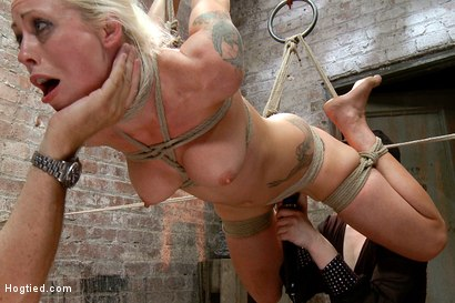 Photo number 6 from Tough Blonde Bombshell & Fan Favorite Lorelei Lee - Complete Edited Live Show shot for Hogtied on Kink.com. Featuring Lorelei Lee and Mark Davis in hardcore BDSM & Fetish porn.