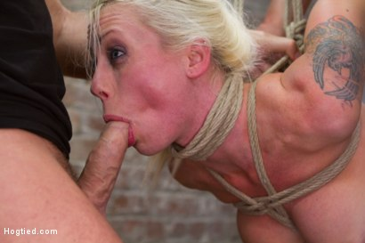 Photo number 7 from Tough Blonde Bombshell & Fan Favorite Lorelei Lee - Complete Edited Live Show shot for Hogtied on Kink.com. Featuring Lorelei Lee and Mark Davis in hardcore BDSM & Fetish porn.