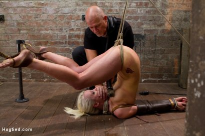 Photo number 5 from Tough Blonde Bombshell & Fan Favorite Lorelei Lee - Complete Edited Live Show shot for Hogtied on Kink.com. Featuring Lorelei Lee and Mark Davis in hardcore BDSM & Fetish porn.
