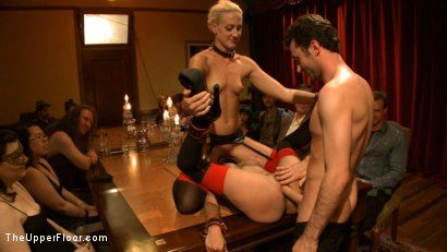 Photo number 14 from Community Dinner With James Deen  shot for The Upper Floor on Kink.com. Featuring James Deen, Beretta James and Dylan Ryan in hardcore BDSM & Fetish porn.