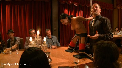 Photo number 16 from Community Dinner With James Deen  shot for The Upper Floor on Kink.com. Featuring James Deen, Beretta James and Dylan Ryan in hardcore BDSM & Fetish porn.