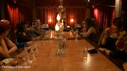 Photo number 18 from Community Dinner With James Deen  shot for The Upper Floor on Kink.com. Featuring James Deen, Beretta James and Dylan Ryan in hardcore BDSM & Fetish porn.