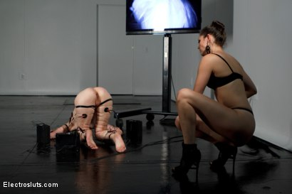 Photo number 9 from Calico Becomes an Electroslut! shot for Electro Sluts on Kink.com. Featuring Calico and Bobbi Starr in hardcore BDSM & Fetish porn.