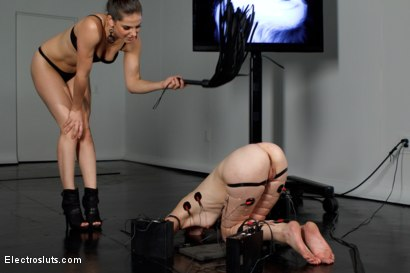 Photo number 3 from Calico Becomes an Electroslut! shot for Electro Sluts on Kink.com. Featuring Calico and Bobbi Starr in hardcore BDSM & Fetish porn.