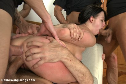 Photo number 10 from Hot girl with Big Natural Tits Fantasizes About Rough Gangbang shot for Bound Gang Bangs on Kink.com. Featuring Markus Dupree, Omar Galanti, Rokki, Steve Holmes, Dorian and Judit in hardcore BDSM & Fetish porn.