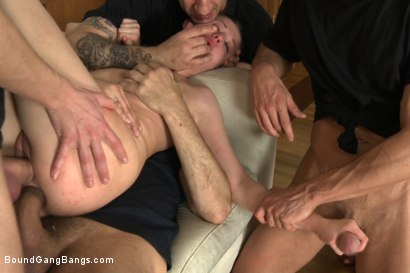 Photo number 13 from Hot girl with Big Natural Tits Fantasizes About Rough Gangbang shot for Bound Gang Bangs on Kink.com. Featuring Markus Dupree, Omar Galanti, Rokki, Steve Holmes, Dorian and Judit in hardcore BDSM & Fetish porn.