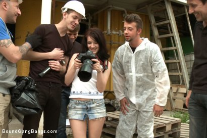 Photo number 2 from The Perfect Picture - Tiny Russian Girl Ganbanged, Two Dicks in Ass shot for Bound Gang Bangs on Kink.com. Featuring Markus Dupree, Omar Galanti, Rokki, Steve Holmes, Dorian and Lina in hardcore BDSM & Fetish porn.