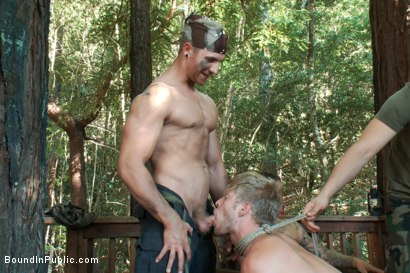 Photo number 7 from Logan Stevens is turned into a sex slave at a campground shot for Bound in Public on Kink.com. Featuring Logan Stevens and Christian Wilde in hardcore BDSM & Fetish porn.