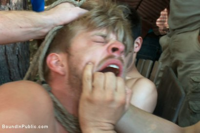 Photo number 5 from Logan Stevens is turned into a sex slave at a campground shot for Bound in Public on Kink.com. Featuring Logan Stevens and Christian Wilde in hardcore BDSM & Fetish porn.