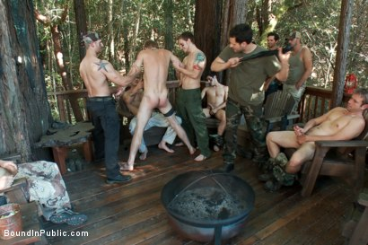 Photo number 1 from Logan Stevens is turned into a sex slave at a campground shot for Bound in Public on Kink.com. Featuring Logan Stevens and Christian Wilde in hardcore BDSM & Fetish porn.