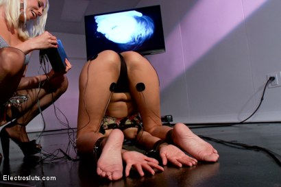 Photo number 3 from Welcome to Electrosluts, Beretta James!! shot for Electro Sluts on Kink.com. Featuring Lorelei Lee and Beretta James in hardcore BDSM & Fetish porn.