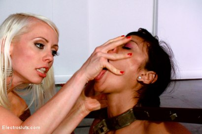 Photo number 13 from Bow Down with No Reward shot for Electro Sluts on Kink.com. Featuring Lorelei Lee and Beretta James in hardcore BDSM & Fetish porn.