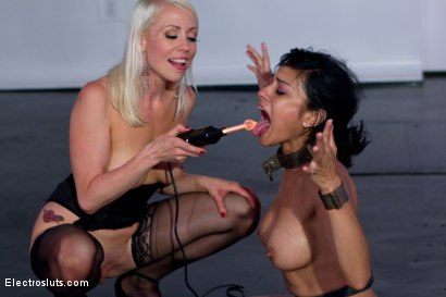 Photo number 8 from Bow Down with No Reward shot for Electro Sluts on Kink.com. Featuring Lorelei Lee and Beretta James in hardcore BDSM & Fetish porn.