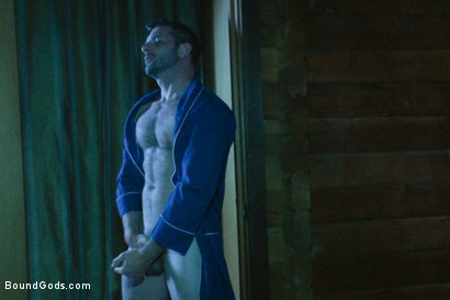 Photo number 12 from The Cabin Series #3 - The Story of Lust and Betrayal  shot for Bound Gods on Kink.com. Featuring Ricky Sinz, Morgan Black, Tyler Alexander and Logan Vaughn in hardcore BDSM & Fetish porn.