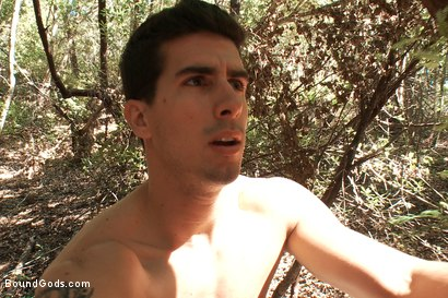 Photo number 14 from The Cabin Series #4 - Bound and Fucked in the Woods shot for Bound Gods on Kink.com. Featuring Ricky Sinz, Morgan Black and Tyler Alexander in hardcore BDSM & Fetish porn.