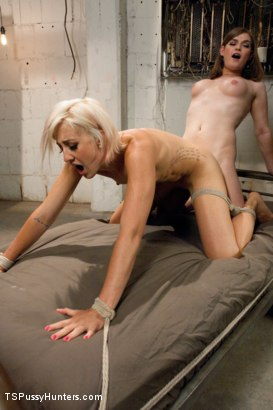 Photo number 9 from The Biggest Cum Load on the Site to Date: Ts Tiffany Star Dominates shot for TS Pussy Hunters on Kink.com. Featuring Tiffany Starr and Dylan Ryan in hardcore BDSM & Fetish porn.