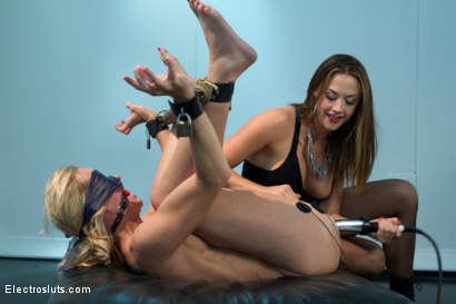 Photo number 3 from Bombshell MILF Simone is Back for More Electrosex! shot for Electro Sluts on Kink.com. Featuring Chanel Preston and Simone Sonay in hardcore BDSM & Fetish porn.