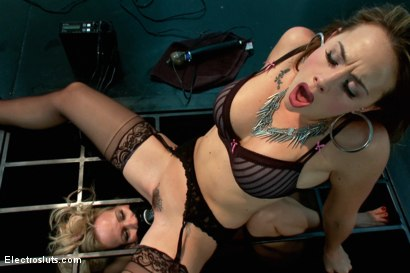 Photo number 13 from Caged MILF Suffers to Electrosex shot for Electro Sluts on Kink.com. Featuring Chanel Preston and Simone Sonay in hardcore BDSM & Fetish porn.