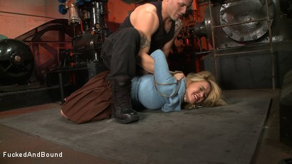 Photo number 2 from Lessons in Manners shot for  on Kink.com. Featuring Krissy Lynn and Derrick Pierce in hardcore BDSM & Fetish porn.