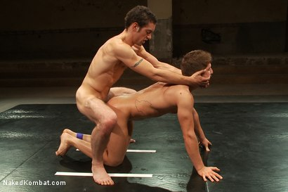 Photo number 12 from Match #24679 Round 3 plus Sex Round  shot for Naked Kombat on Kink.com. Featuring Steve Sterling and DJ in hardcore BDSM & Fetish porn.