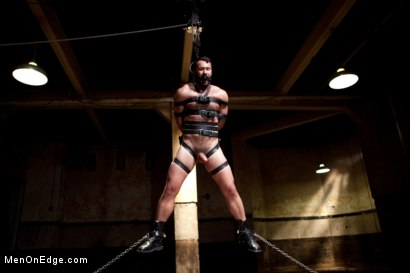 Photo number 14 from Wilfred Knight - Post Orgasm Torment in Mid Air shot for Men On Edge on Kink.com. Featuring Wilfried Knight in hardcore BDSM & Fetish porn.