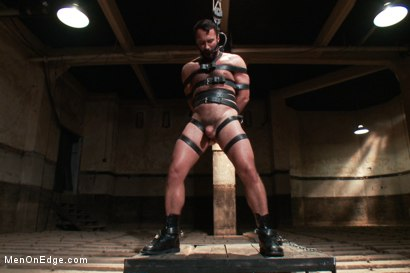 Photo number 12 from Wilfred Knight - Post Orgasm Torment in Mid Air shot for Men On Edge on Kink.com. Featuring Wilfried Knight in hardcore BDSM & Fetish porn.
