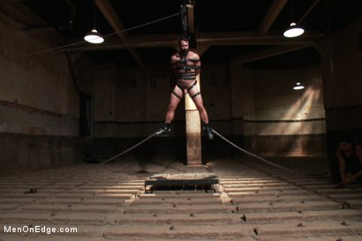 Photo number 13 from Wilfred Knight - Post Orgasm Torment in Mid Air shot for Men On Edge on Kink.com. Featuring Wilfried Knight in hardcore BDSM & Fetish porn.