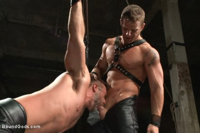 Photo number 2 from A Struggle for Power shot for Bound Gods on Kink.com. Featuring Jeremy Stevens and Dirk Caber in hardcore BDSM & Fetish porn.