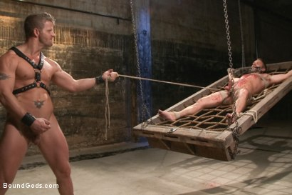 Photo number 11 from A Struggle for Power shot for Bound Gods on Kink.com. Featuring Jeremy Stevens and Dirk Caber in hardcore BDSM & Fetish porn.