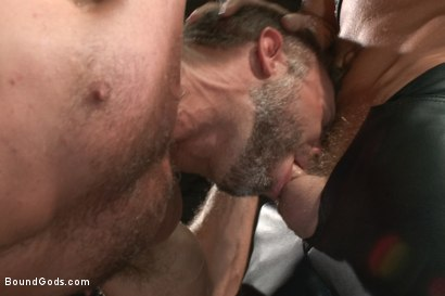 Photo number 3 from A Struggle for Power shot for Bound Gods on Kink.com. Featuring Jeremy Stevens and Dirk Caber in hardcore BDSM & Fetish porn.