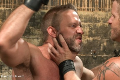 Photo number 6 from A Struggle for Power shot for Bound Gods on Kink.com. Featuring Jeremy Stevens and Dirk Caber in hardcore BDSM & Fetish porn.