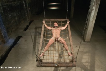 Photo number 7 from A Struggle for Power shot for Bound Gods on Kink.com. Featuring Jeremy Stevens and Dirk Caber in hardcore BDSM & Fetish porn.